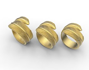 feather rings 3D print model