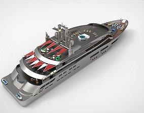 Luxury Yacht G 3D model