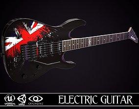 Electric Guitar Jackson Dinky British Eagle 3D asset