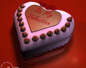 Valentine cake 01 3D