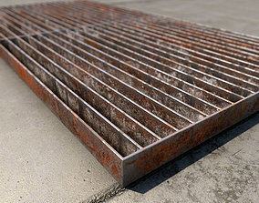 Rusted Metal grill 3D model