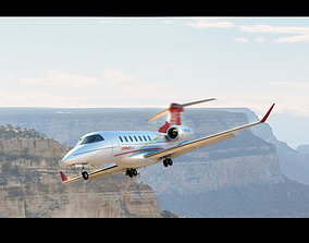 Airplane Interior Learjet 85 3D model
