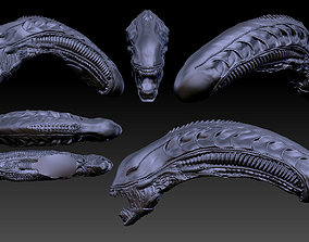 Aliens xenomorph inspired head 3d file