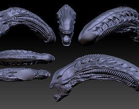 Aliens xenomorph inspired head 3d file