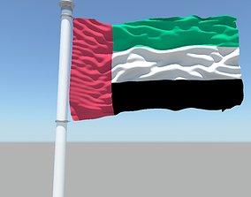 3D model United Arab Emirates flag