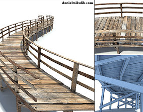 3D model Footbridge Low Poly