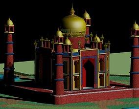 Red Taj Mahal 3D