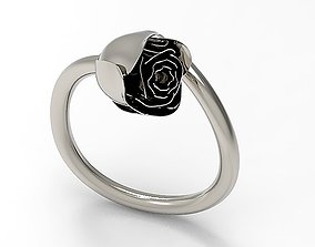 ring Flower Ring 3D printable model