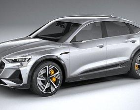 3D model Audi E-Tron Sportback S-line 2021