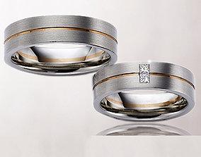 Wedding rings 239 3D print model