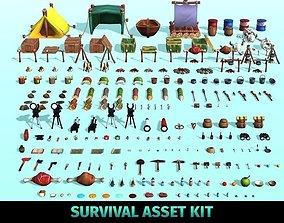 3D model Survival Asset Kit