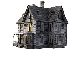 Old house 3D model low-poly