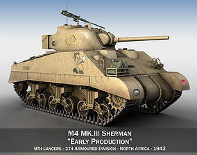 army M4 Sherman MK III - Early Production 3D model
