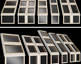 Roof windows Skylights 3D