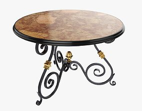 Wrought round iron table 3D model