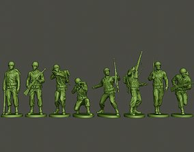 American soldier ww2 A1 Pack 3D model