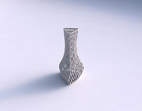 Vase puffy triangle with lattice tiles 3D printable model