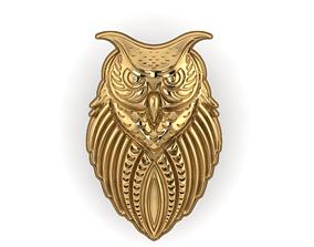 owl logo jewelry 3D printable model