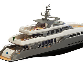 Super Yacht Without Furniture 3D