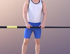 3D asset Rick 10720 - Standing Rower