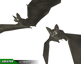3D asset Low-poly Bat Rigged Animated