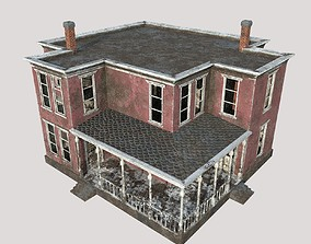 3D asset Abandoned House 02