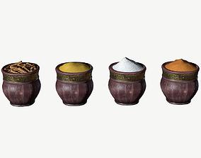 Spice Pots Bazaar 3D model