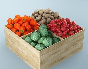 3D Store Vegetables Stand 02