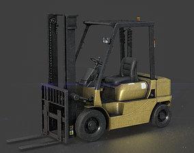 3D model game-ready PBR Forklift