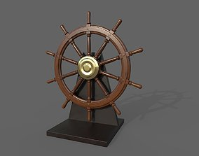 Nautical Wheel Game-Ready 3D Model realtime