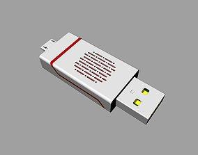 3D printable model Red and black OTG U Disk C