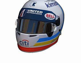 Alonso helmet Daytona 2018 3D asset