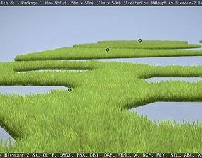 3D model Low-Poly Lawn Fields - Package 1