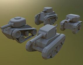 Midget Lowpoly Tanks 3D model