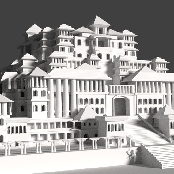 3d castle and palace