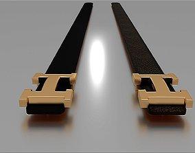 3D asset Hermes Belts x2 models