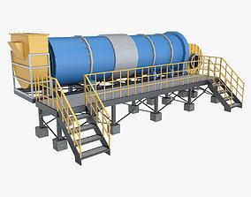 3D Asphalt Plant Dryer Machine