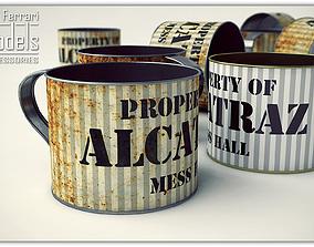 Alcatraz Tin Cup 3D model