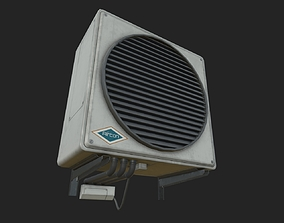 Air conditioner 3D model low-poly PBR