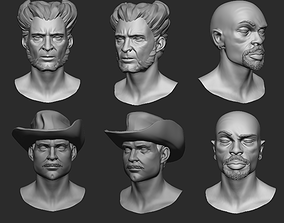 3D print model 6 TIPE OF HEAD BASEMESH