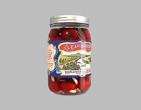 Pickling Tomatoes in Jars 3D model