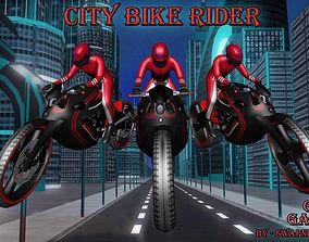 Bike Rider Gaming 3D asset