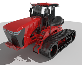 Scraper Tractor Tracked 3D asset