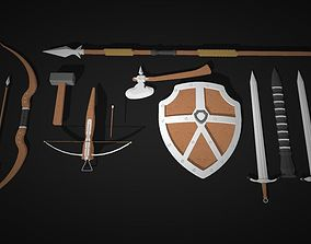 3D medieval weapons