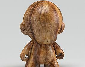 3D Wooden Human Sculpture