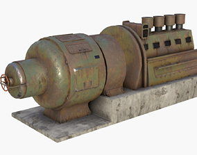 German Power Generator WWII 3D asset