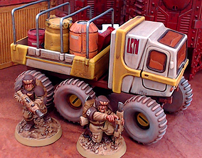 3D printable model Outpost Utility Truck - 28mm Sci-Fi