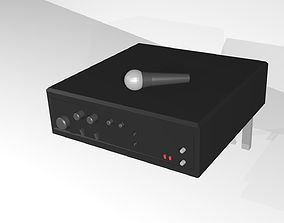 Amplifier and Microphone 3D model
