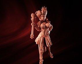 3D printable model queen of hearts