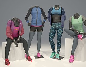 3D model Woman mannequin Nike pack 3 sport